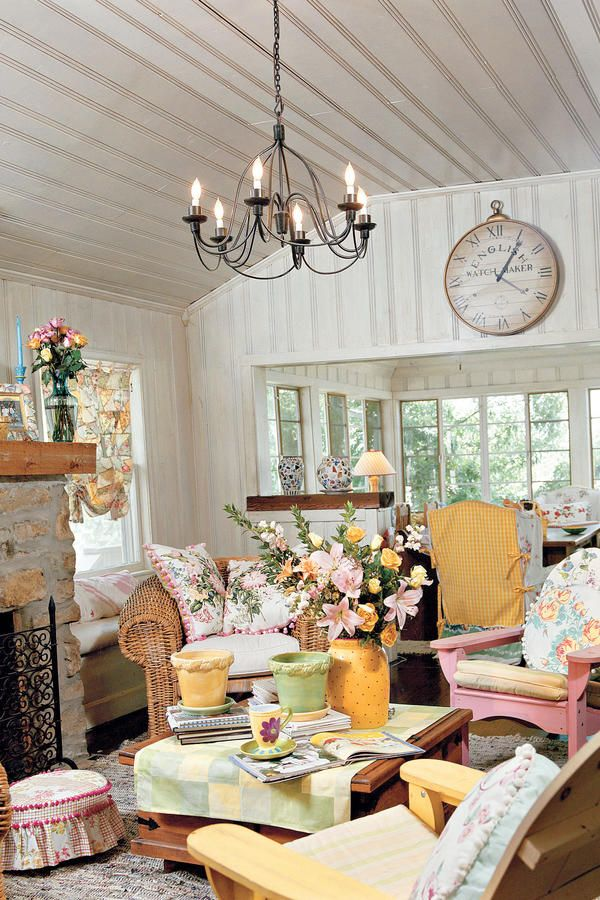 Cottage Home Decorating Ideas Part - 16: Living Room Decorating Ideas: Decorate With Cottage Style - 102 Living Room Decorating  Ideas - Southern Living