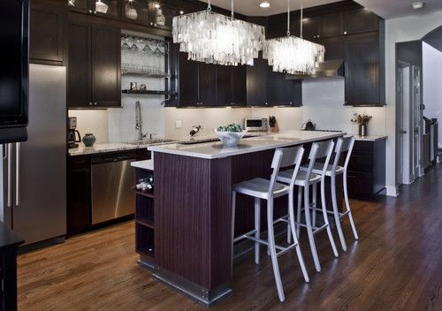 Contemporary kitchen with rectangular modern chandelier over kitchen contemporary kitchen with rectangular modern chandelier over kitchen islandg 500352 pixels aloadofball Gallery