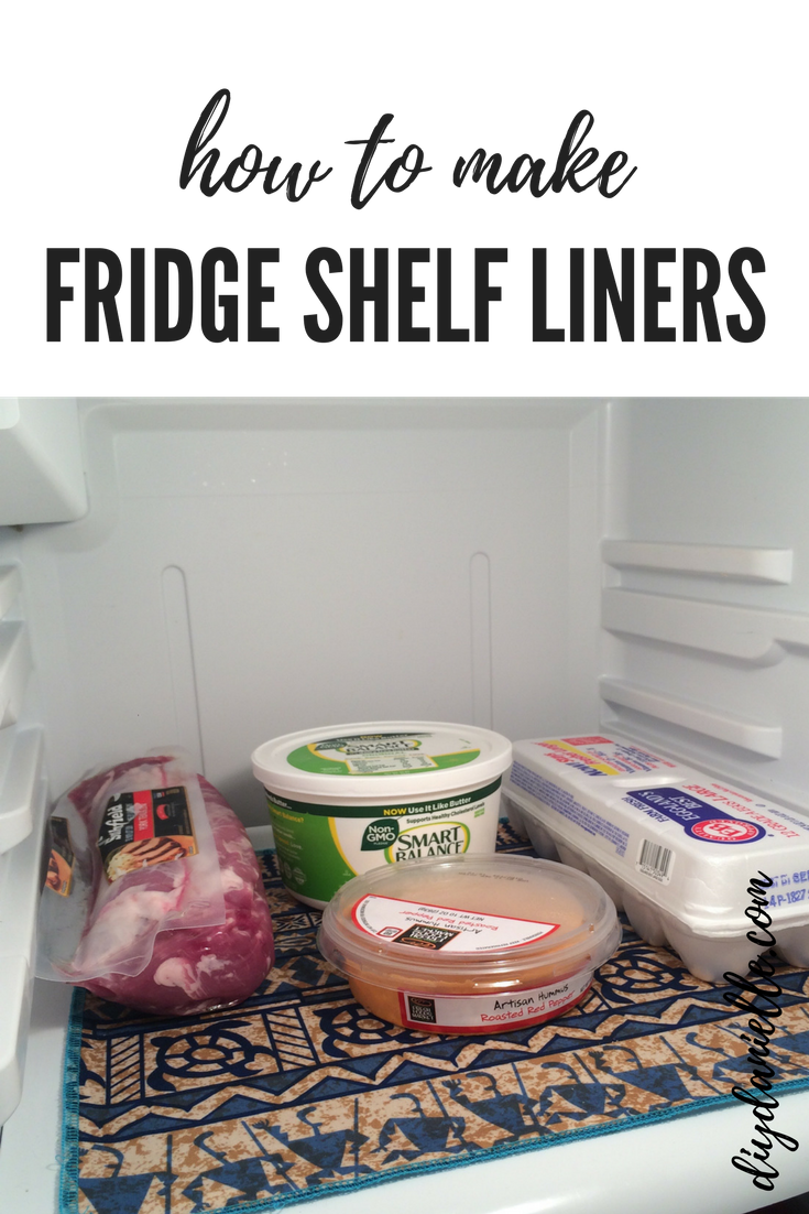 Fridge Shelf Liners Adorable How To Make Washable Refrigerator Shelf Liners  Shelf Liners Inspiration