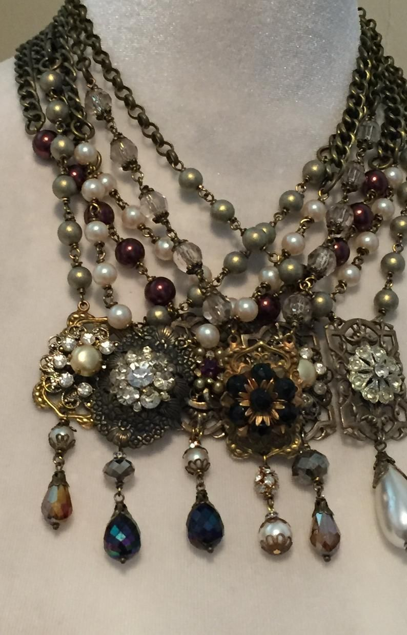Photo of Assemblage Necklace, Repurposed Jewelry , Boho