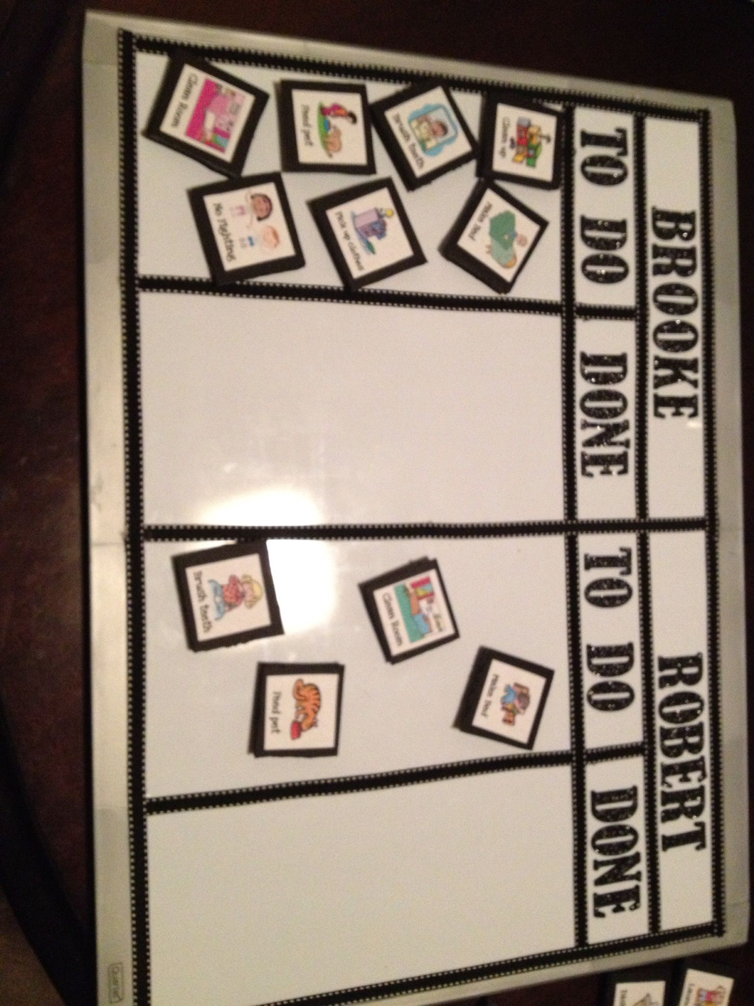 Very Simple Diy Chore Chart I Used A Dry Erase