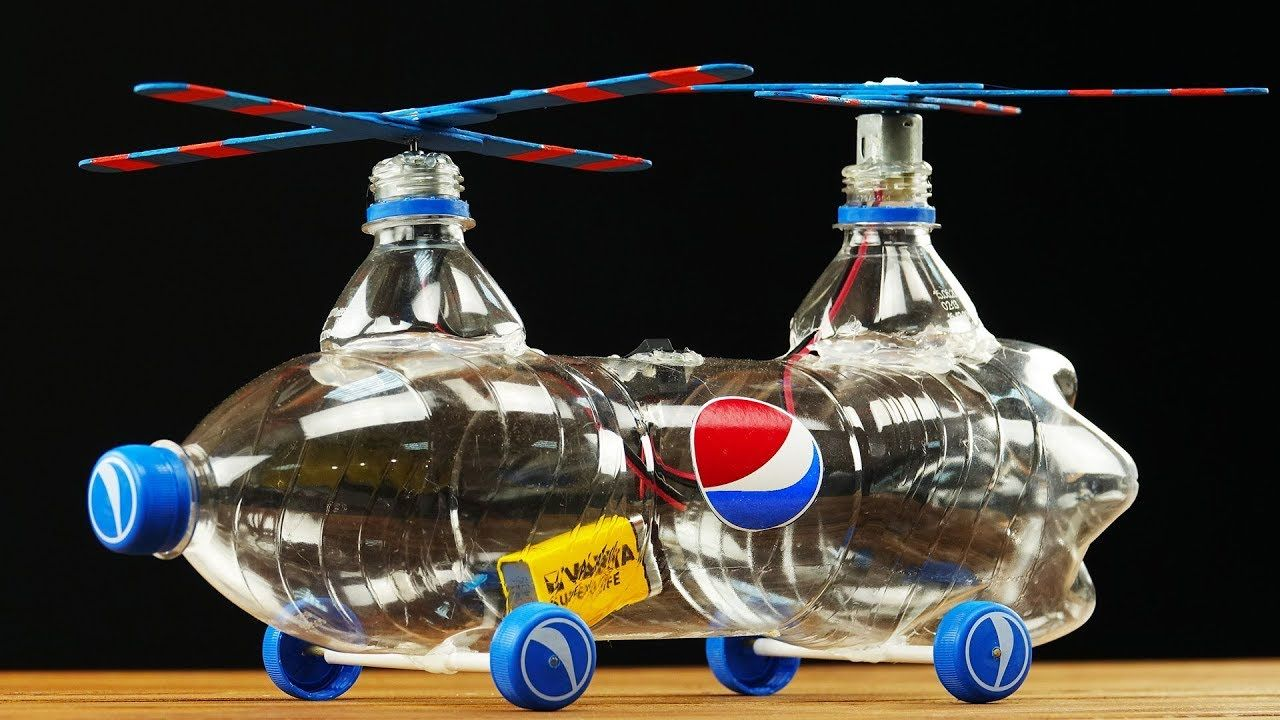 How to Build Helicopter from Pepsi Plastic Bottle | Toys from ...