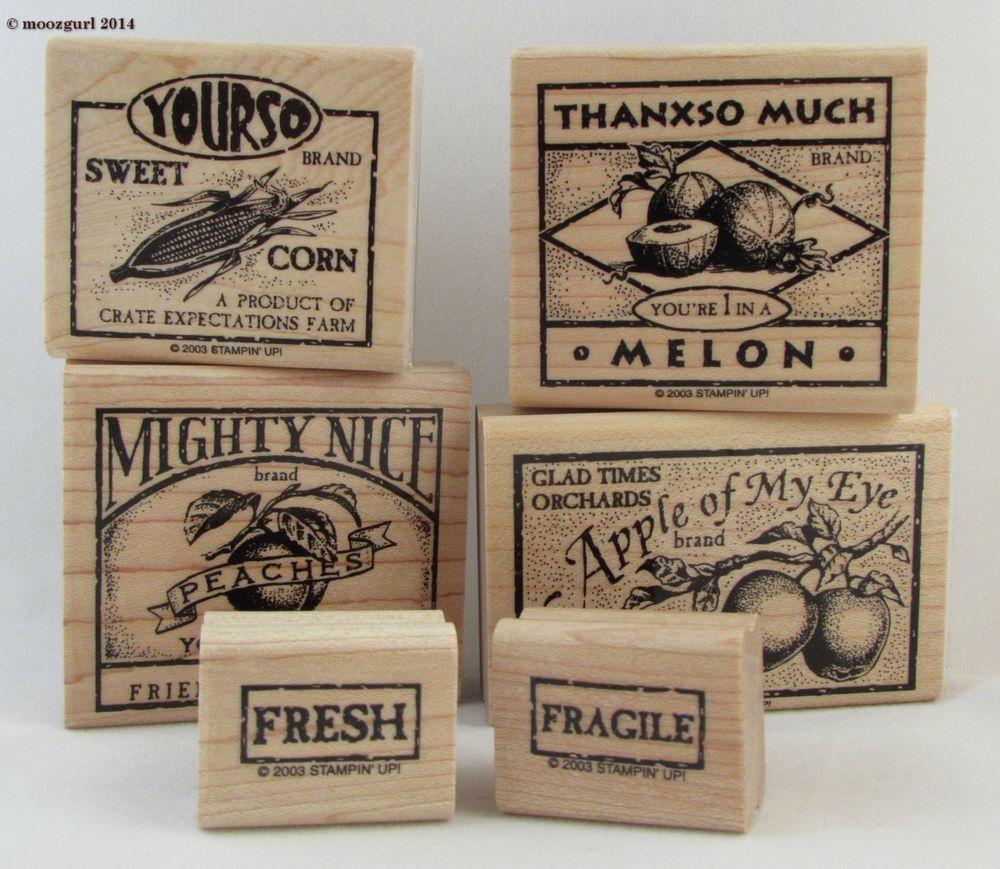 """Stampin Up""""Farm Fresh""""-Vintage Crate Label Design-Harvest ..."""