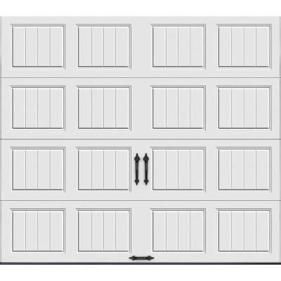Clopay Gallery Collection 8 Ft. X 8 Ft. 6.5 R Value Insulated Solid White Garage  Door GR1SP_SW_SOL   The Home Depot