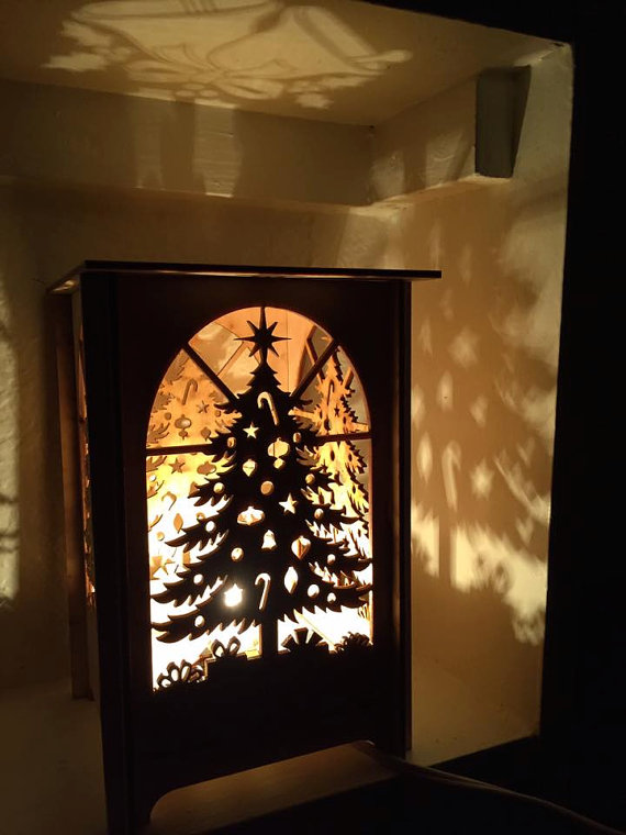 Table Lamp Laser Cut Table Lamp Laser Cut Candle Box Christmas