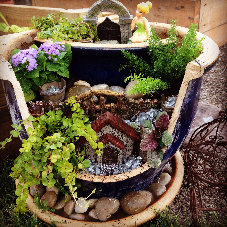 Broken pot fairy garden fairy gardens pinterest fairy gardens broken pot fairy garden workwithnaturefo