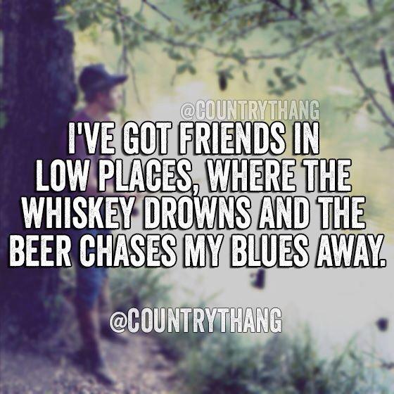 My Garth Brooks Tattoo Lyrics From The Dance I Love: Friends In Low Places - Garth Brooks