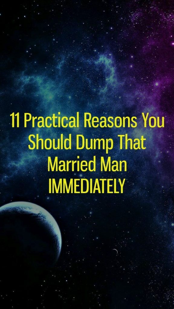 what to avoid when dating a married man
