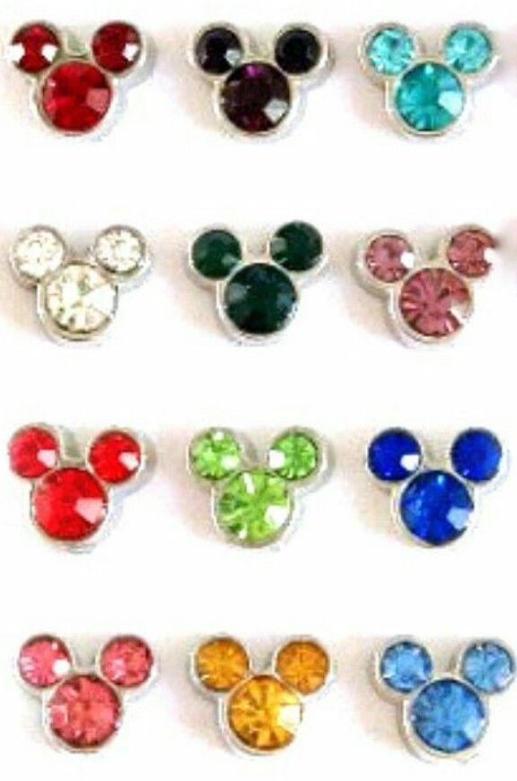 Disney Birthstone Floating Charm Bracelet Mickey Mouse Floating Charm Bracelet Disney Floating Charm Bracelet Mickey Charm Bracelet