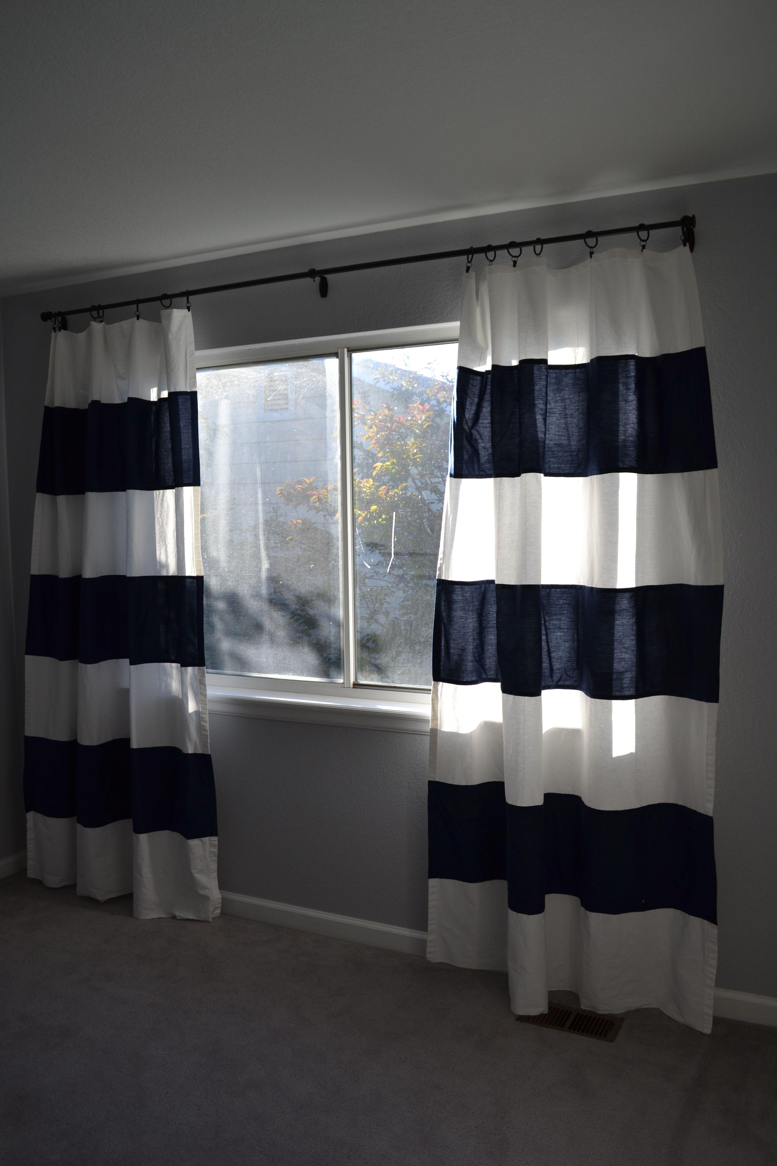 Nursery Progress Diy Striped Curtain Makeover