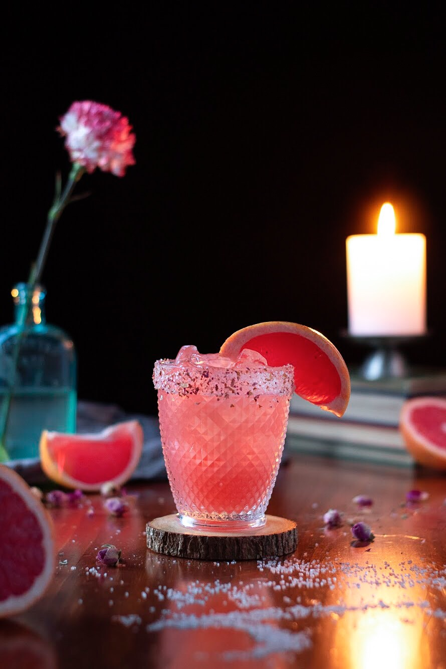 Photo of Raspberry Jasmine Green Tea Paloma – Moody Mixologist