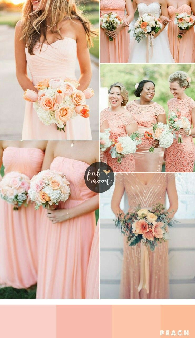 Pretty Peach: Pritty Dresses Peach Wedding At Reisefeber.org
