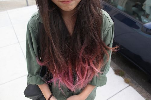 Pin By Maria Tandazo On Belleza Colored Hair Tips Hair Dye Tips Dip Dye Hair