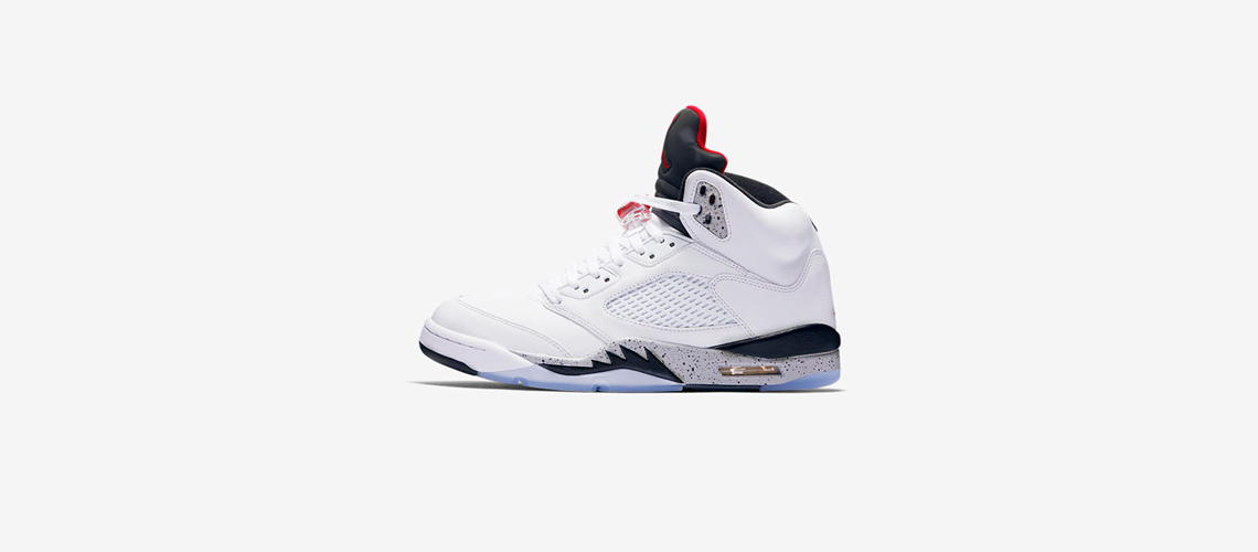 b4b8a82aa71760 Air Jordan 5 Retro – White Cement