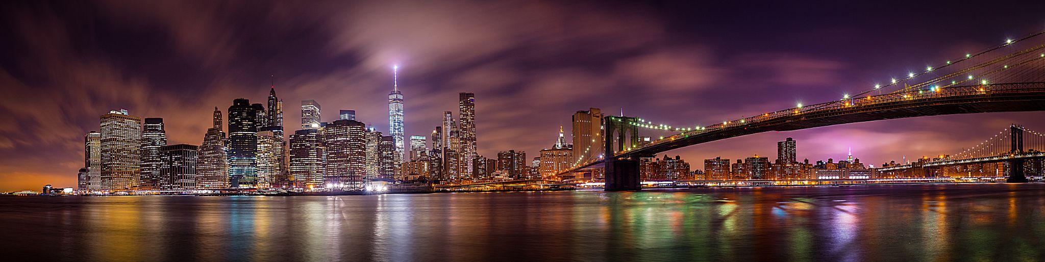 New York City Skyline by night by johanmorin100 - Photo 133871165 - 500px