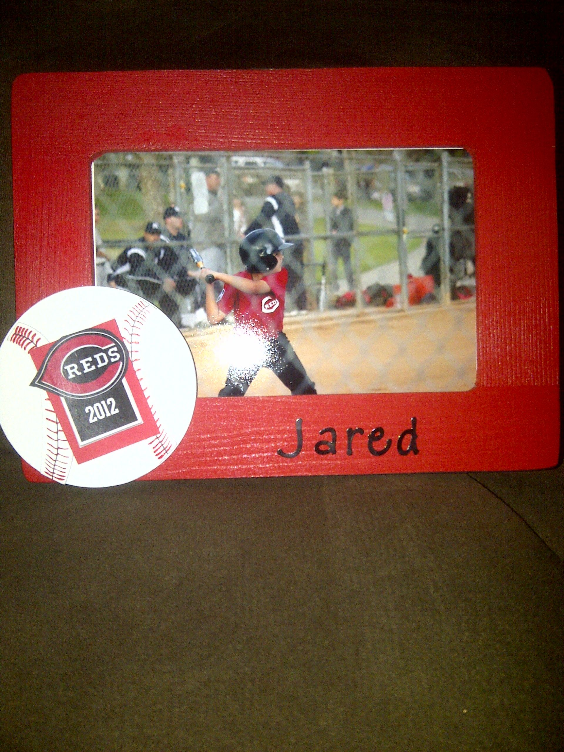 I made frames for each player...My Team Mom gift to them