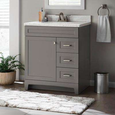 Home Decorators Collection Thornbriar 30 In W X 21 In D Bathroom Vanity Cabinet In Cement Tb3021 Ct In 2020 Grey Bathroom Vanity 30 Inch Vanity Small Bathroom Vanities