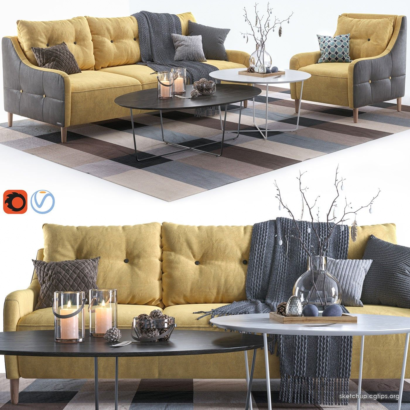 2269 Sofa And Armchair Sketchup Model Free Download Sofa Set Sofa Sofa Manufacturers