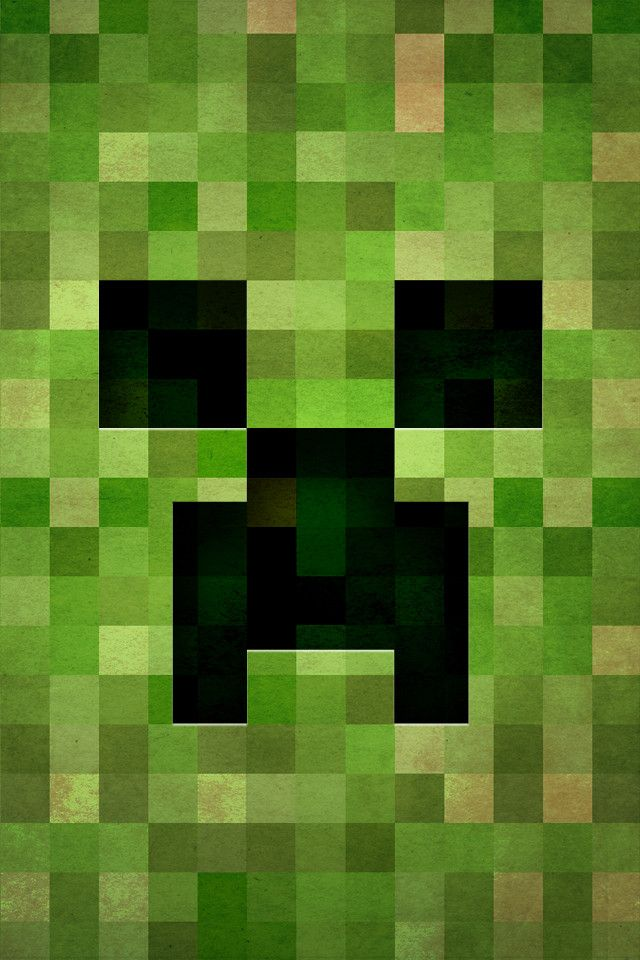 Decorate your iphone the retro way with these gaming - Creeper iphone background ...