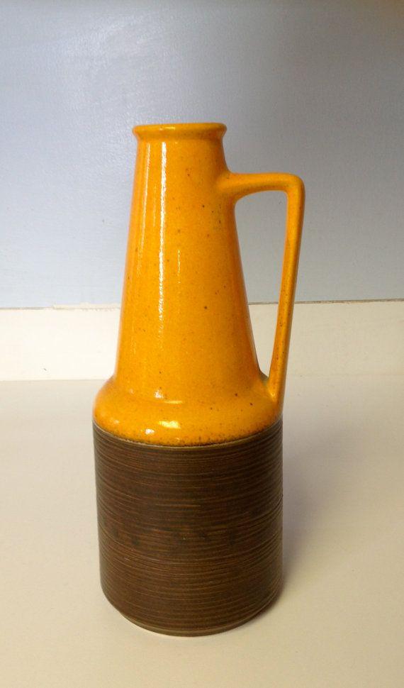 West German Ceramic Dumler and Breiden Orange and by JenAntoinette, $40.00
