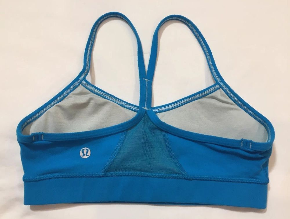 LULULEMON Flow Y Sports Bra Size 4 Blue Sports bra