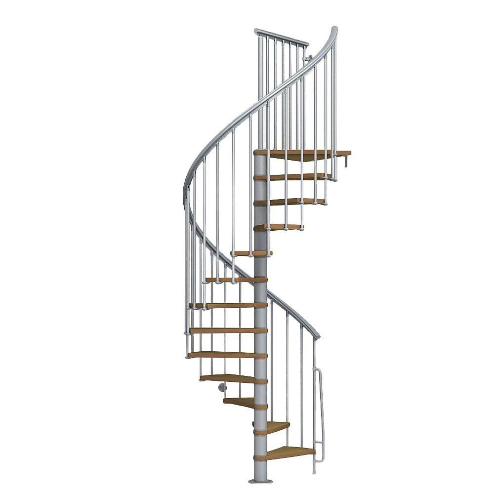 Best Arke Nice1 51 In Grey Spiral Staircase Kit In 2020 400 x 300
