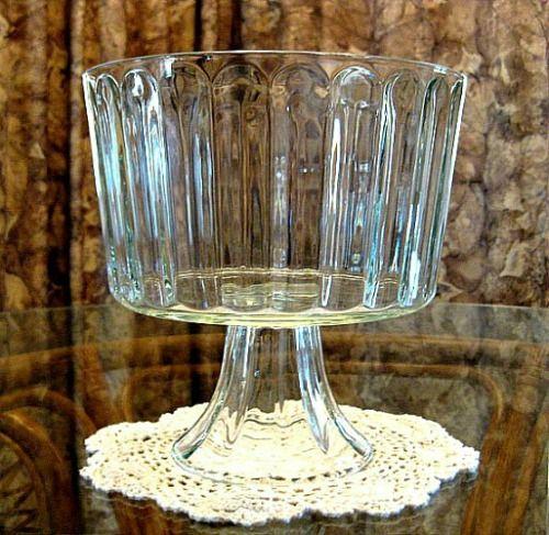 Glass Pedestal Trifle Bowl, Dessert Bowl, Compote, Salad Fruit Bowl ...