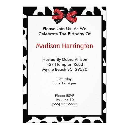 Cow Print Birthday Invitation Zazzle 22 For 10 Can Order Any Amount
