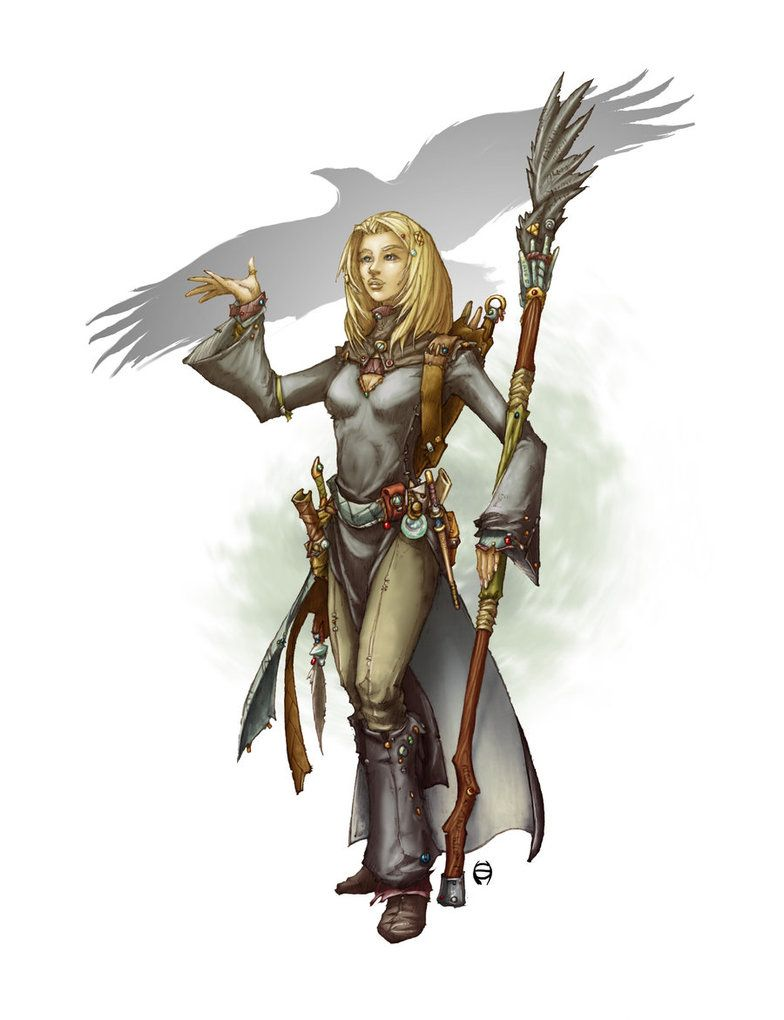 """Character artwork for """"Deep Magic"""" from Kobold Press. I did this last year around august (2013), the book just got released today, April 2014. Sometimes it takes that long... Copyright: Kobold Press"""