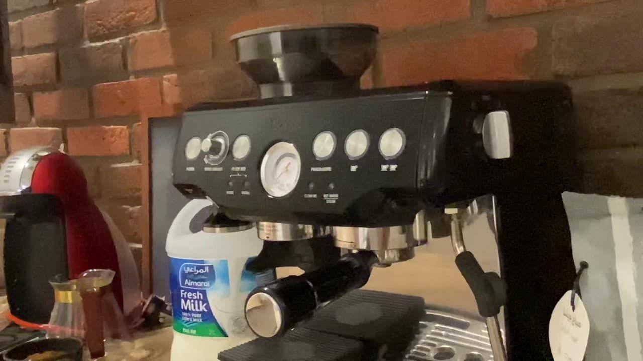 شرح مكينة بريفل طريقة تصليح لاتيه Espresso Machine Coffee Coffee Maker