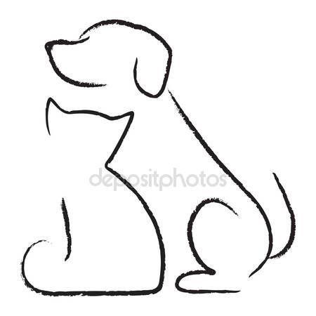 Icona Di Cane E Gatto Artigianato Con Animali Dibujos Dibujos