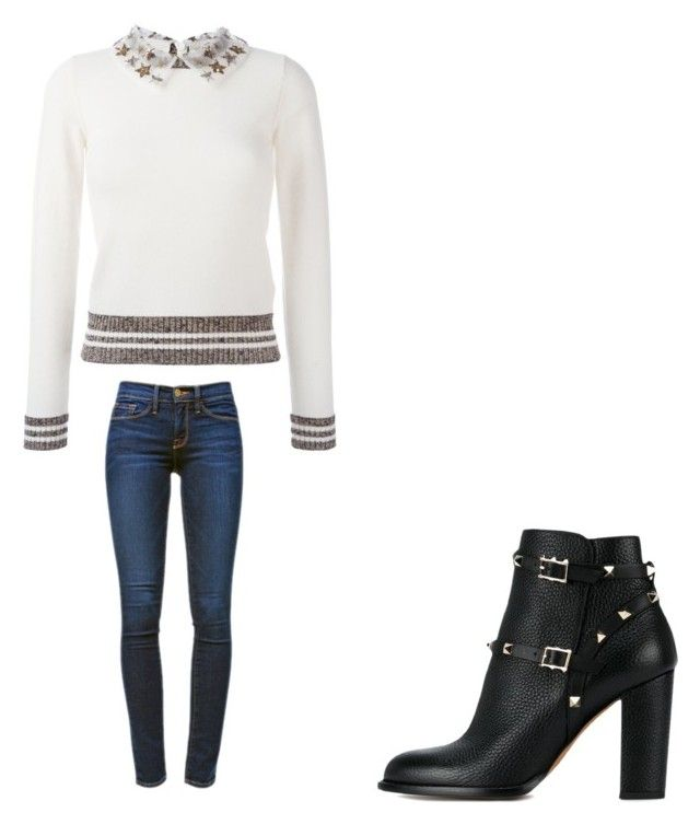 """"""""""" by melodyleighmitchell on Polyvore featuring Valentino and Frame"""