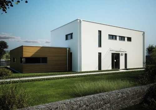 Neubau mit Flachdach Style at