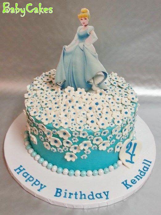 Brilliant Cinderella Themed Birthday Cake With Images Cinderella Personalised Birthday Cards Petedlily Jamesorg