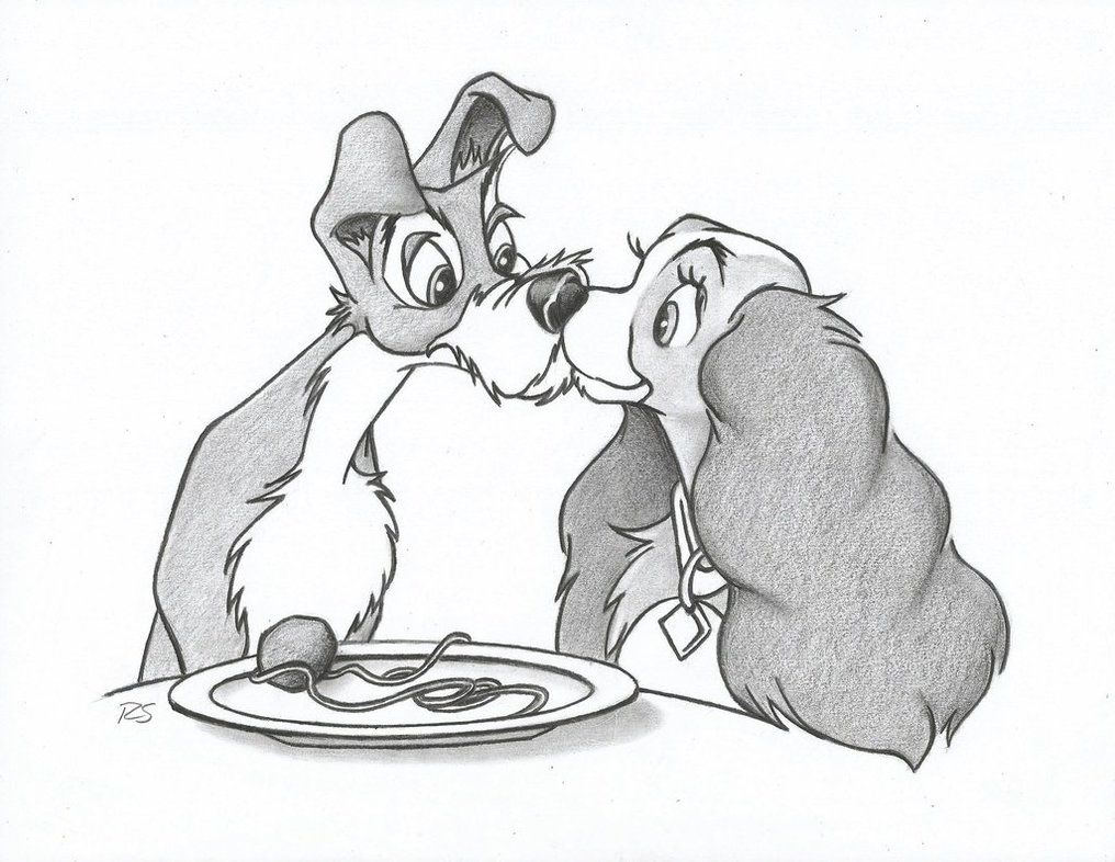 Lady The Tramp By Ryan Shaw C 2013 Disney Canvas Paintings Disney Canvas Lady And The Tramp