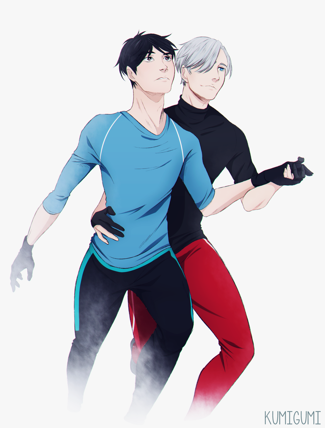 Wanted to draw Yuri and Victor dancing together https