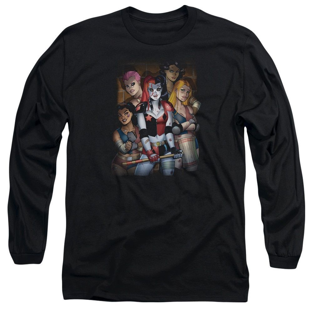 Batman/Bad Girls Long Sleeve Adult T-Shirt 18/1 in