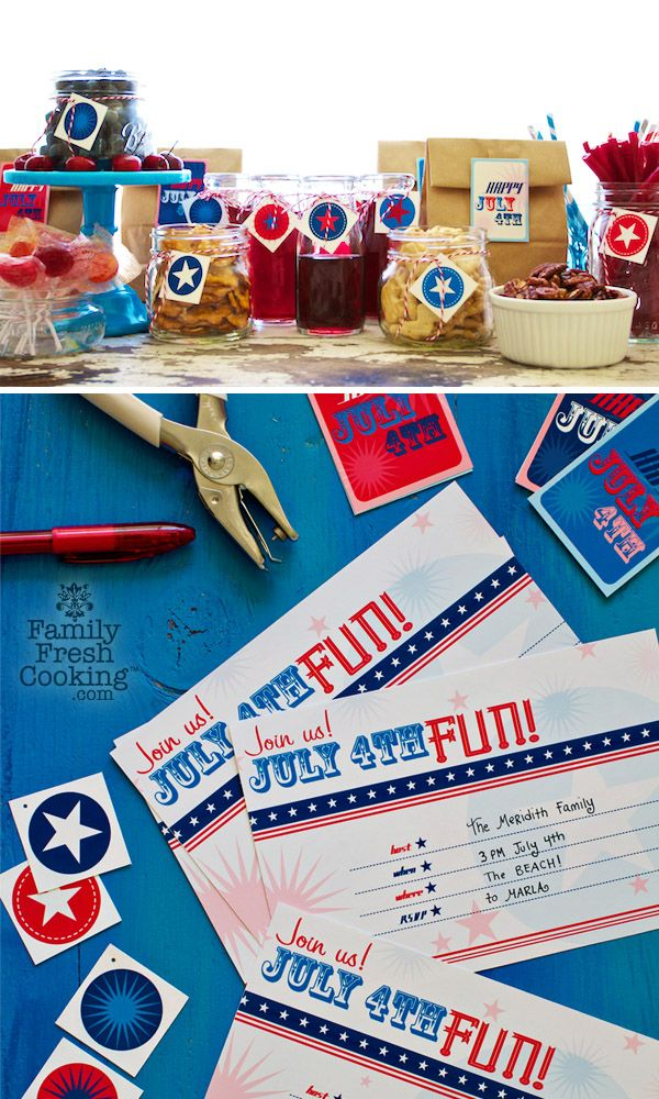free printable fourth of july party invitations decorations
