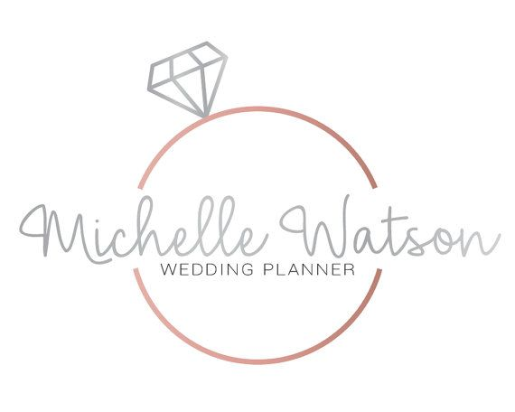 Premade Logo Design Wedding Planner Event Bridal Photography Blog Watermark Branding