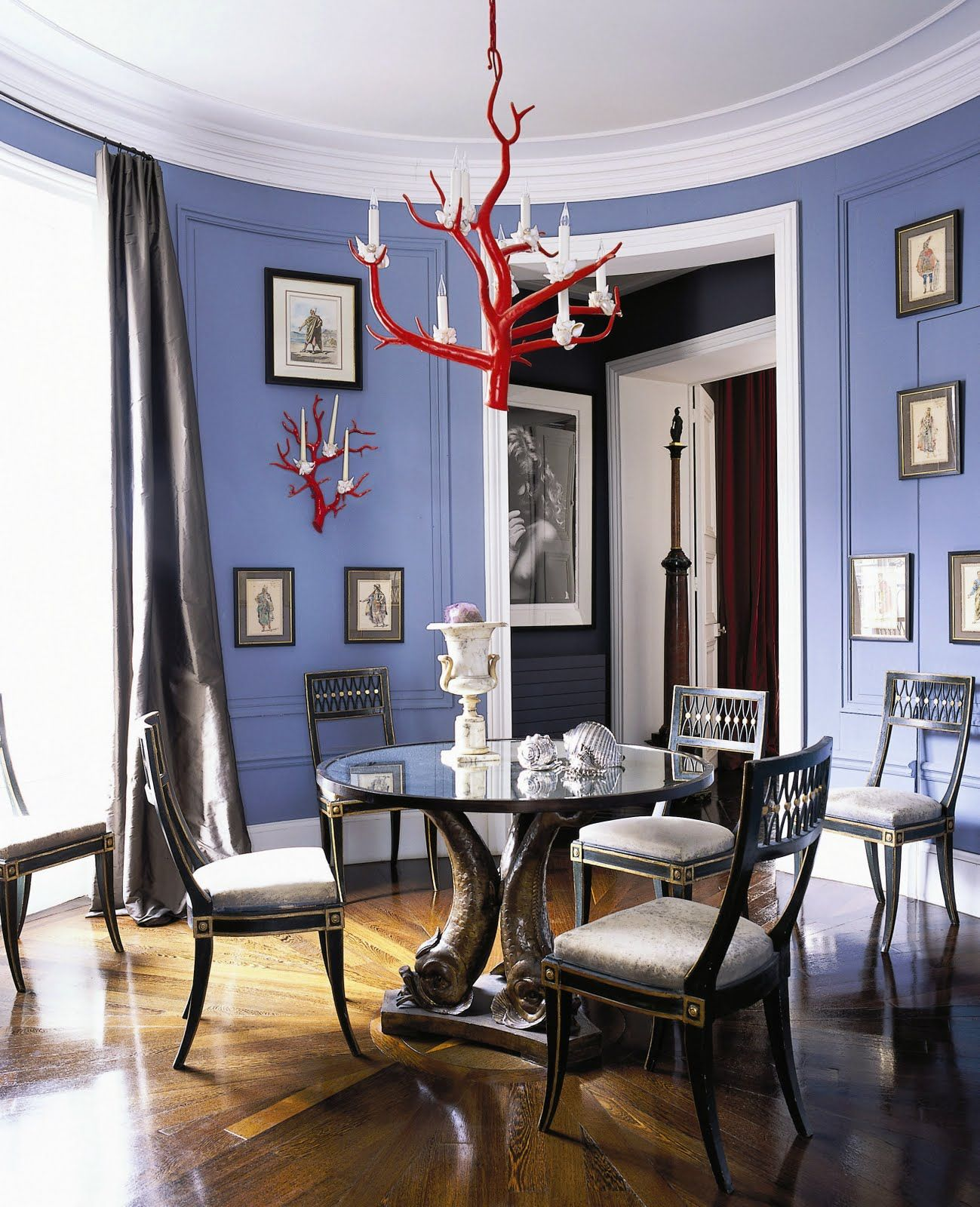 THE BEST OF STYLISH DECOR Blue Dining RoomsDining