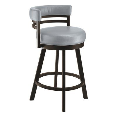 Red Barrel Studio Homan 26 Swivel Bar Stool With Images Bar Stools Swivel Bar Stools Counter Stools
