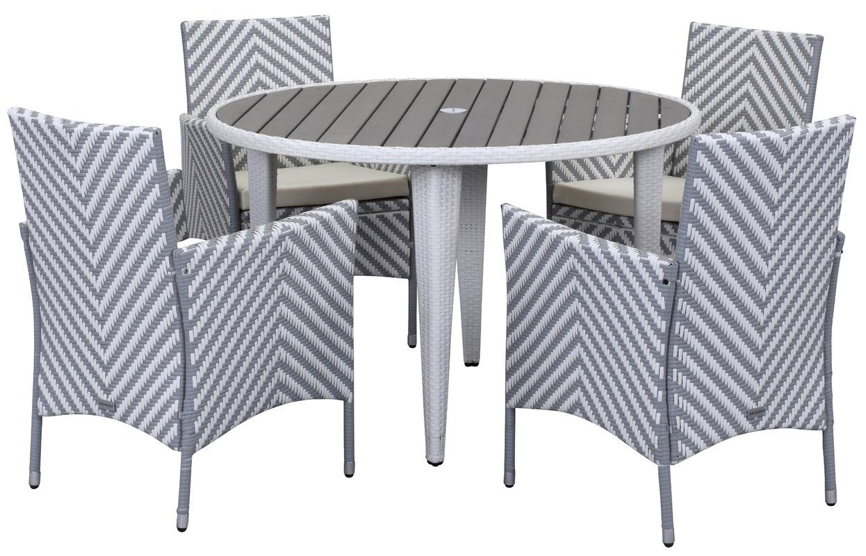 Mcgrady 5 Piece Dining Set Patio Dining Set Home Decor White Dining Set