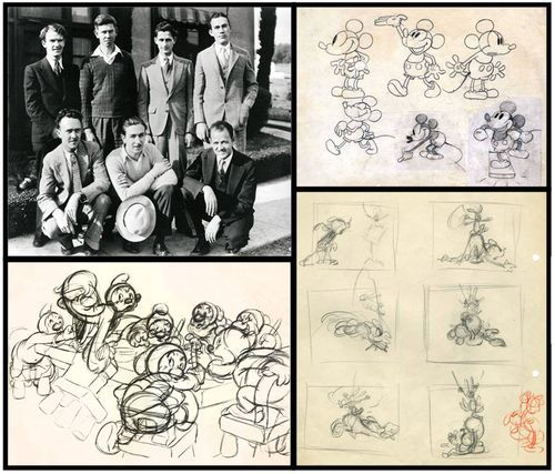 Les Clark – the first of the group to join Disney (1927), Les became the second animator to draw Mickey Mouse, the first being the original animator, Ub Iwerks. Mickey Mouse was his specialty! He also worked on Snow White and the Seven Dwarfs, Pinocchio, Dumbo, and Cinderella among numerous others.