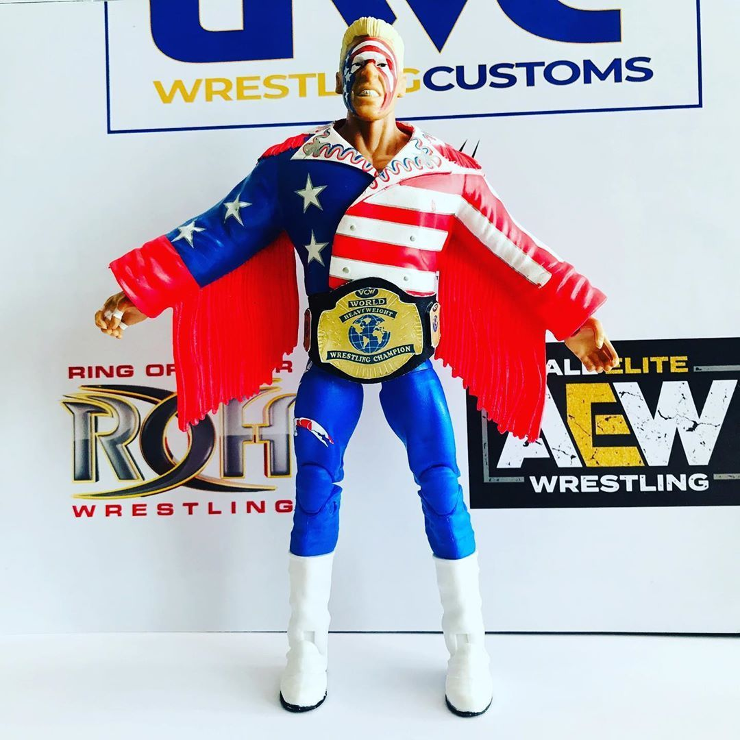 WCW Heavyweight Championship Belt with #Sting . #wwe#wweppv#aew#wrestlemania#elitescale#wrestling#wwewrestling#wrestlingfigures#toys#boxing#ringsidecollectibles#raw#smackdown#smackdownlive#nxt#tna#mma#sdlive#205live#ufc#figures#mattel#wweactionfigures#njpw #wwf #goldenera #wwfgoldenera #wwememes #wwetagteamchampionship