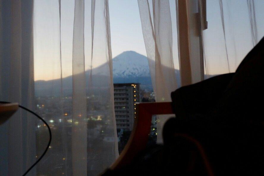 Fuji-san view from Mars Garden Wood Hotel, Gotemba