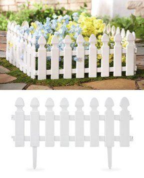 13 Amazon Com White Picket Fence Garden Border 4 Pc Set By