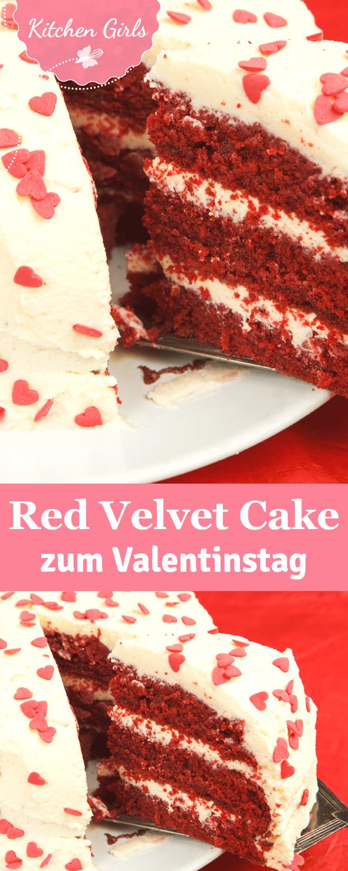 red velvet cake design recipe Rezept für Red Velvet Cake : Ein Kuchen für Verliebte: Unser