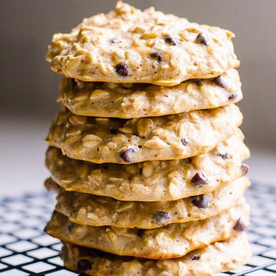 Tasty and moist Whey Protein Cookies Recipe made with banana, oatmeal, peanut butter, chocolate chip...