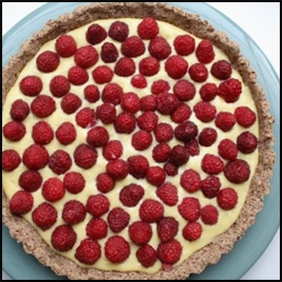 Lime Curd Tart With Raspberries