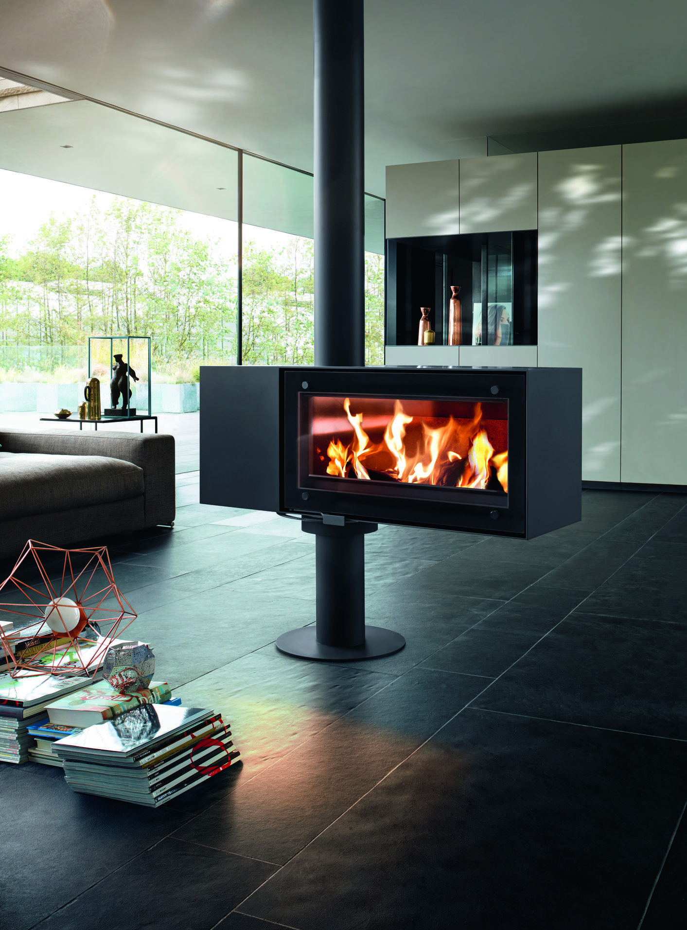 Turn 5Kw Log Burner  Achitectural Design By Schwieger &